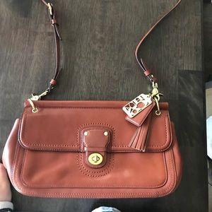 Coach crossbody bag - brown leather